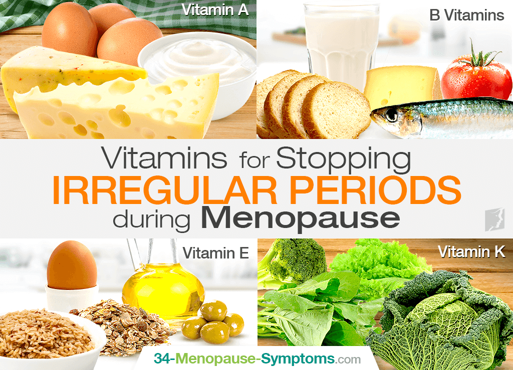 Vitamins for Stopping Irregular Periods during Menopause