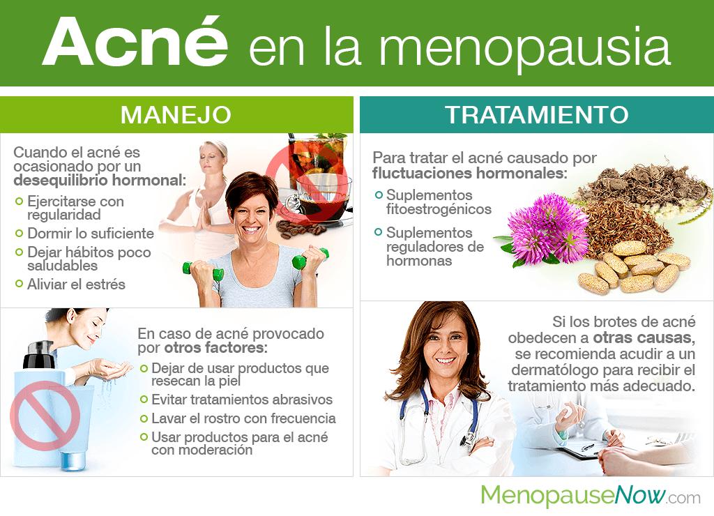 Acné en la menopausia