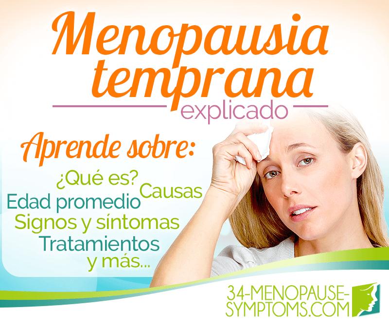 Cuales son los sintomas dela menopausia prematura