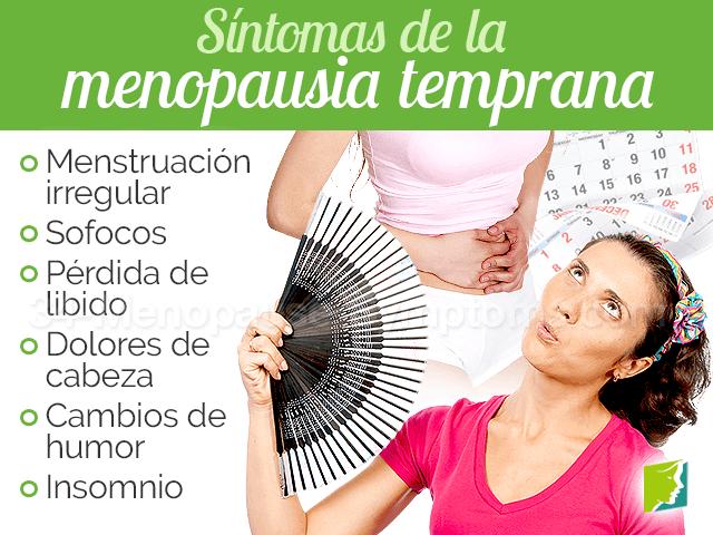 Síntomas de la menopausia temprana