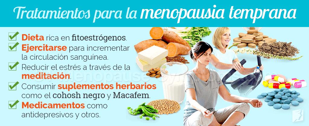 Tratamientos para la menopausia temprana