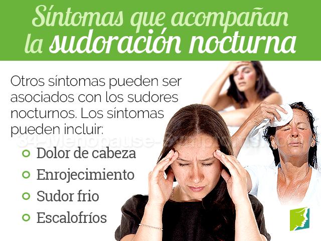 Síntomas que acompañan a la sudoración nocturna