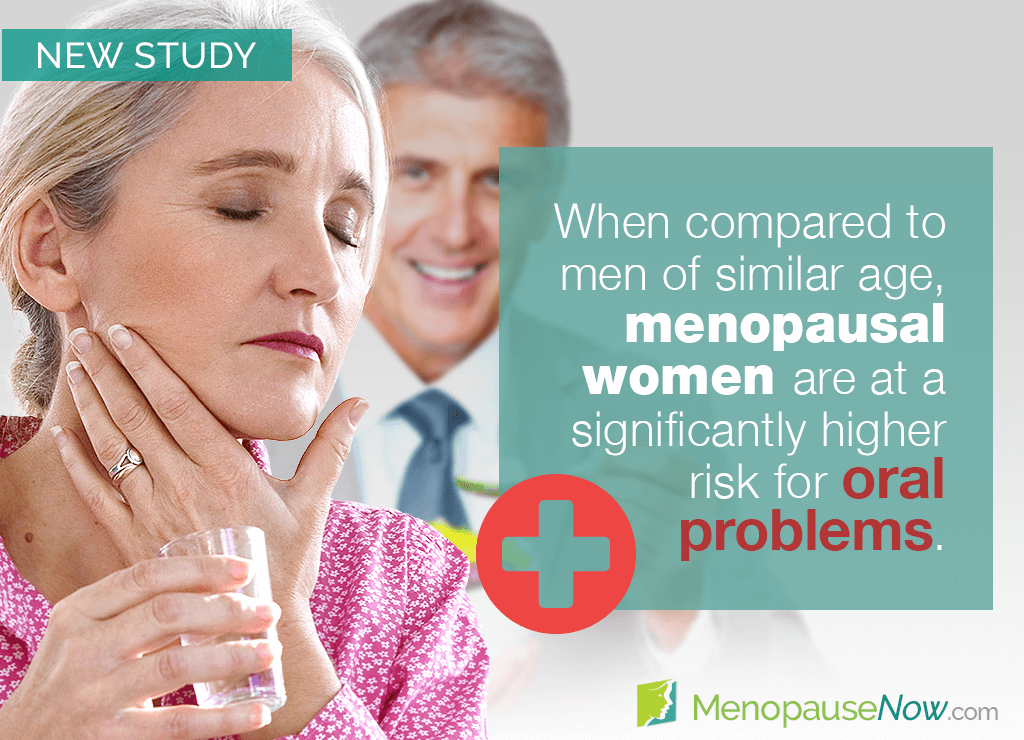Study: Postmenopausal women more prone to oral problems