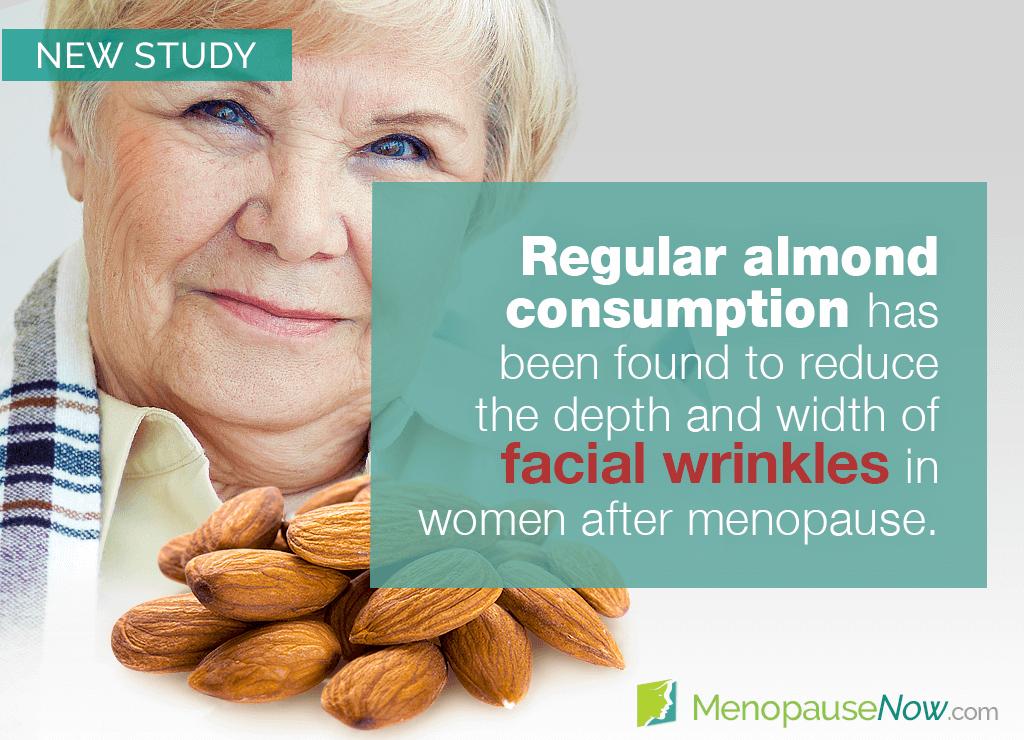 Study: Eating almonds may reduce wrinkles in postmenopausal women