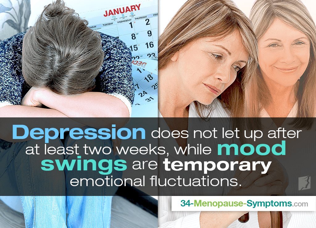 difference between mood swings and depression