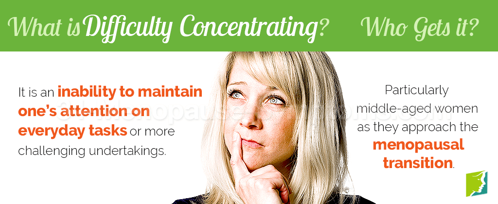 What is difficulty concentrating