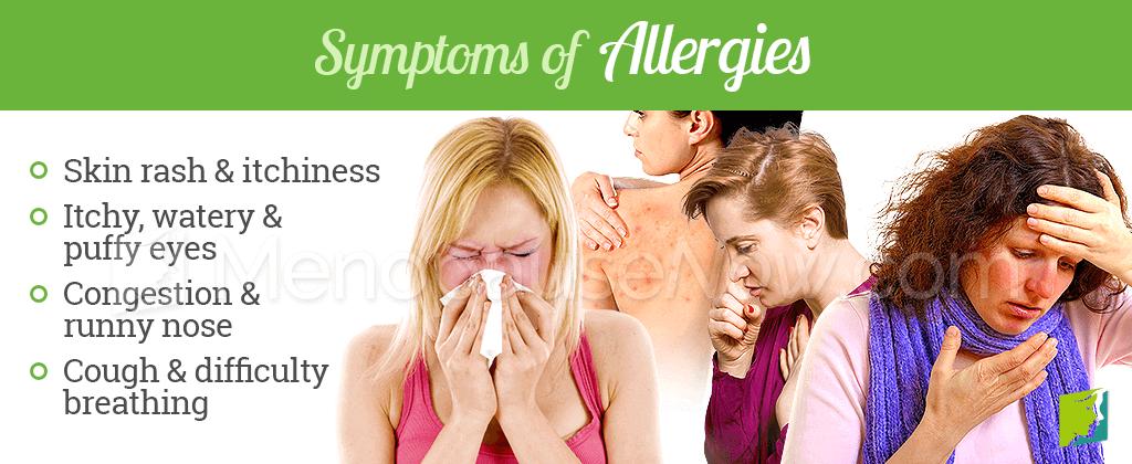 Symptoms of allergies
