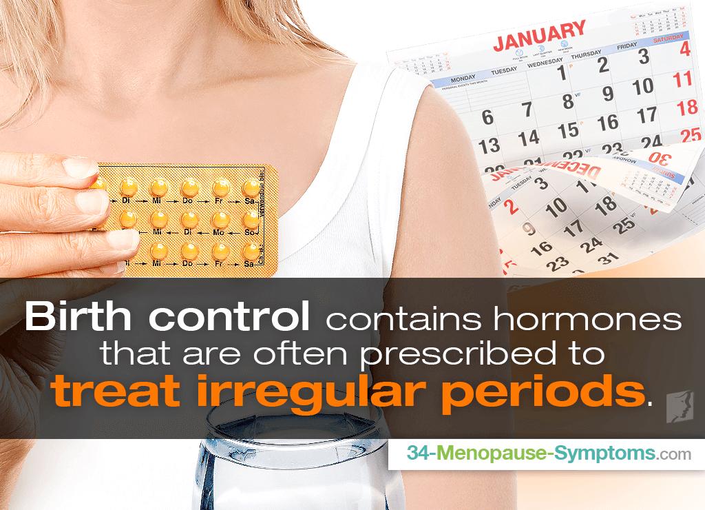 Birth control and irregular periods