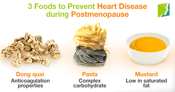 3 Foods to Prevent Heart Disease during Postmenopause