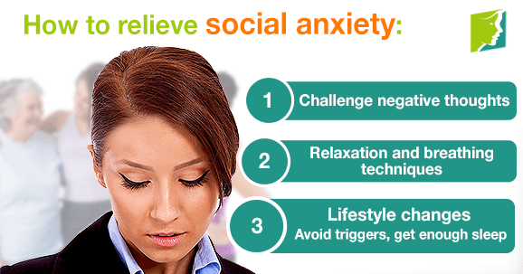 How to relieve social anxiety