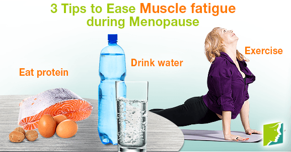 tips to ease muscle fatigue during menopause, Muscles