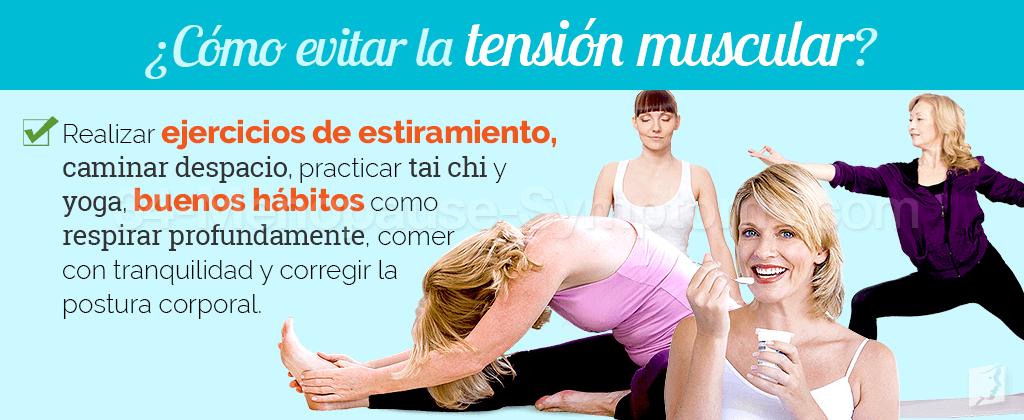 ¿Cómo evitar la tensión muscular?
