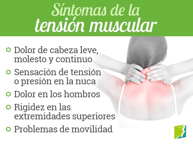 Síntomas de la tensión muscular
