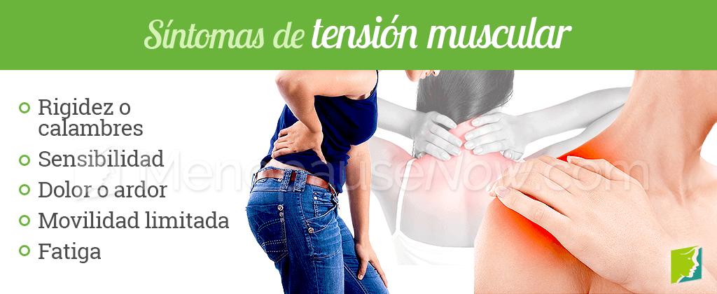 Síntomas de tensión muscular