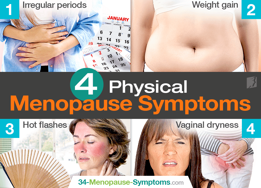 Physical menopause symptoms