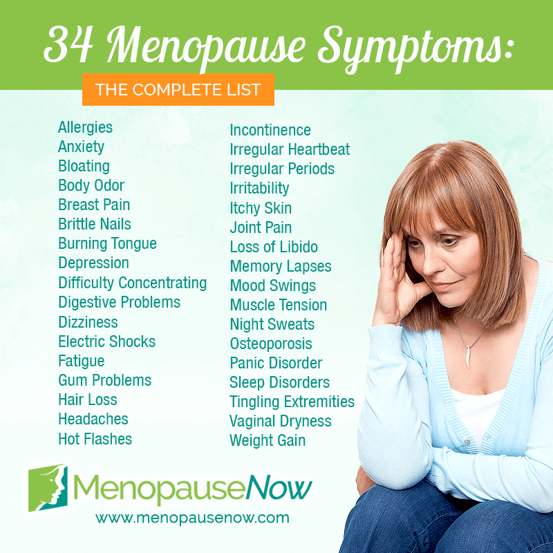 what are pre menopause symptoms