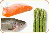 Eat salmon and asparagus to combat vaginal dryness.