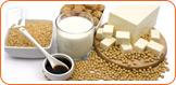 Soy intake can help reduce menopause symptoms.