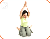 Hero pose: start with a common yoga pose to ease digestive problems