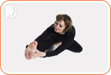 For the head-to-knee bend yoga pose: great to relieve digestive problems