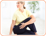 Sitting twist pose: these pose will aid in healthy digestion