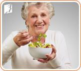 A healthy diet can counteract menopausal weight gain.