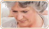 Distraught woman: hormonal fluctuation during menopause cause depression