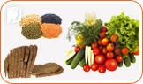 Foods containing the most fiber include legumes, vegetables, and whole grain bread