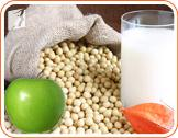 Soy and apples help to reduce symptoms of hormonal imbalance