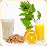 Spinach, orange juice, and  soy milk are great alternatives for a healthy calcium intake.