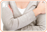 Breast pain is normally caused by a change in hormone levels.