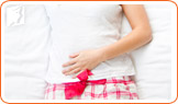 Heavier than normal bleeding is a symptom of irregular periods.