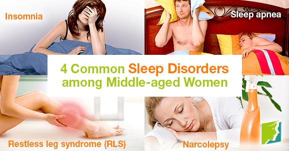 4 Common Sleep Disorders among Middle-aged Women