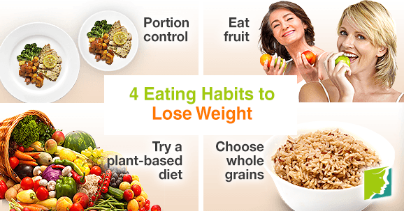 4 eating habits to lose weight