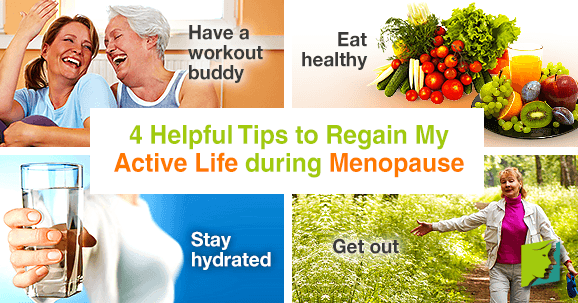 4 helpful tips to regain my active life during menopause