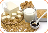 Soy helps to restore hormone balance.