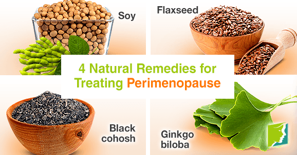 4 natural remedies for treating perimenopause
