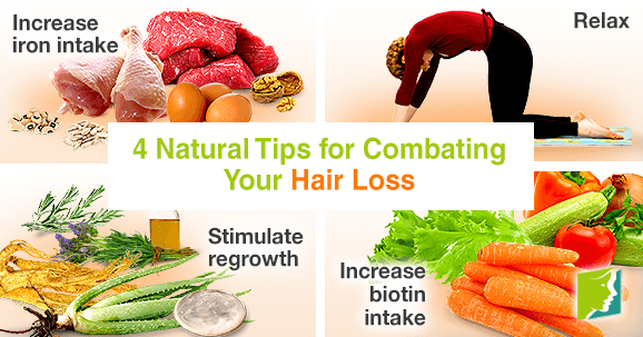 4 natural tips for combating your hair loss