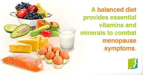 A balanced diet provides essential vitamins and minerals to combat menopause symptoms