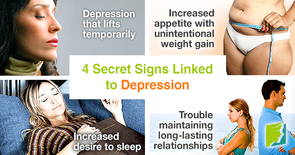 4 secret signs linked to depression