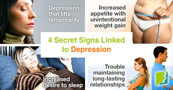 4 secret signs linked to depression