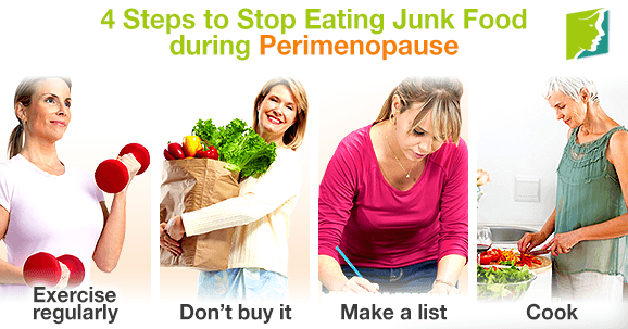 4 Steps to Stop Eating Junk Food during Perimenopause