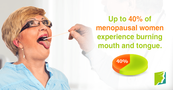 Up to 40% of menopausal women experience burning mouth and tongue