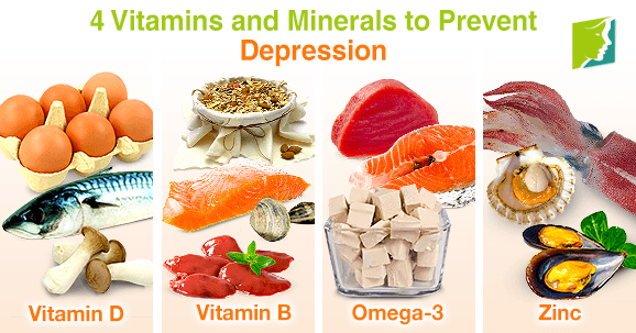 4 Vitamins and Minerals to Prevent Depression