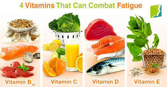 4 vitamins that can combat fatigue
