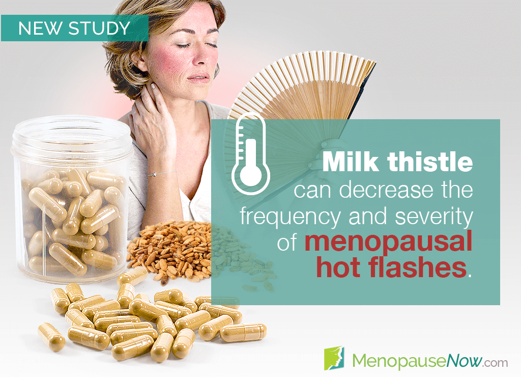 Study: Reductions in hot flashes after milk thistle supplementation