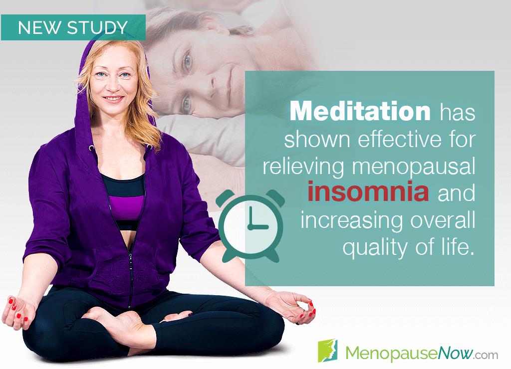 Study: Meditation as an alternative rreatment for menopausal insomnia
