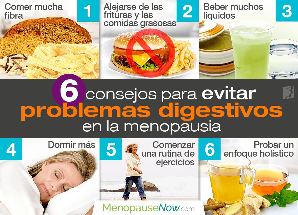 6 consejos para aliviar problemas digestivos en la menopausia