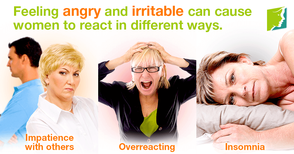 Feeling angry and irritable can cause women to reacto in different ways.