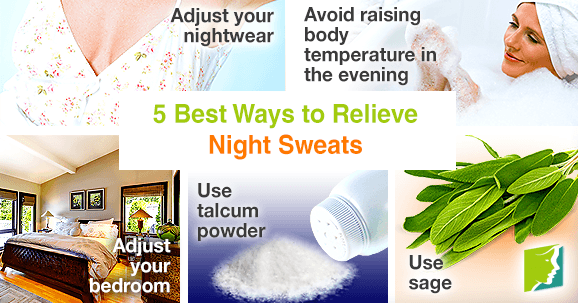 5 best ways to relieve night sweats